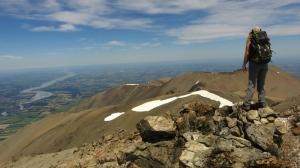 Desde la cumbre del Hutt 2.185m con la comarca de Canterbury