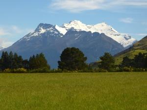 Montañas de 2000m con glaciares