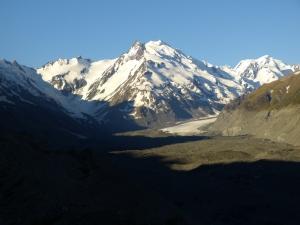Monte Minerat 2500m con el glaciar de Tasman