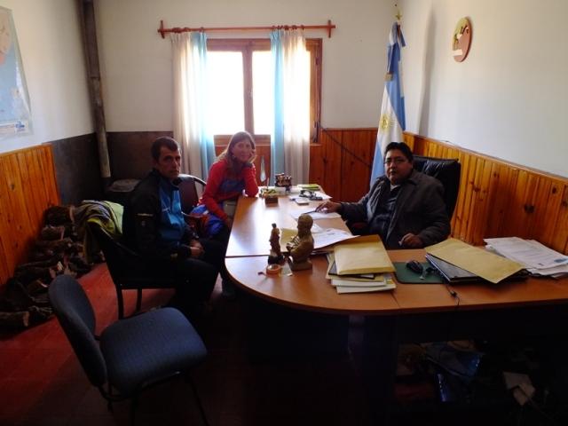 Con el alcalde de Tolar Grande.