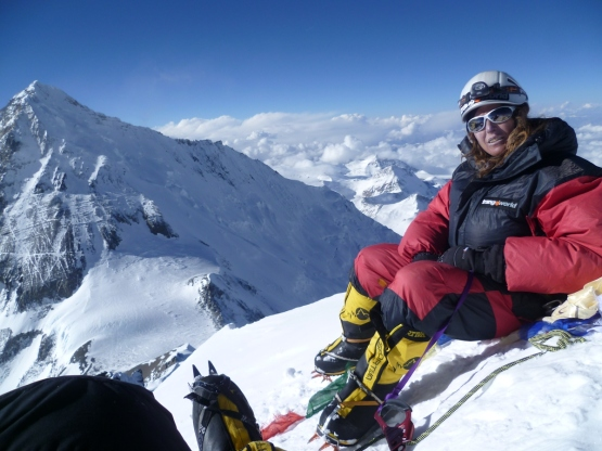 Lhotse 8.516m al fondo el Everest.